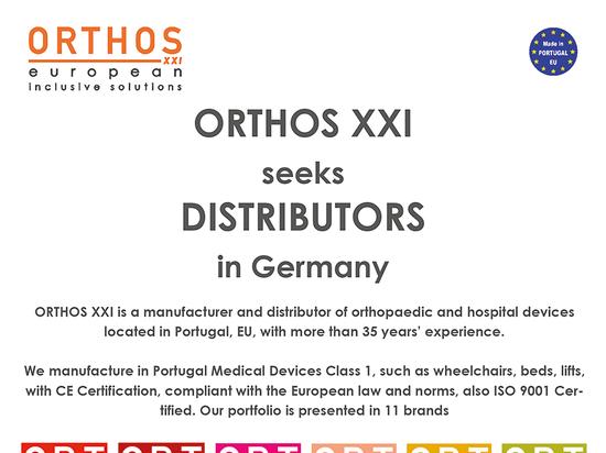 ORTHOS XXI - SEEKS DISTRIBUTORS IN GERMANY
