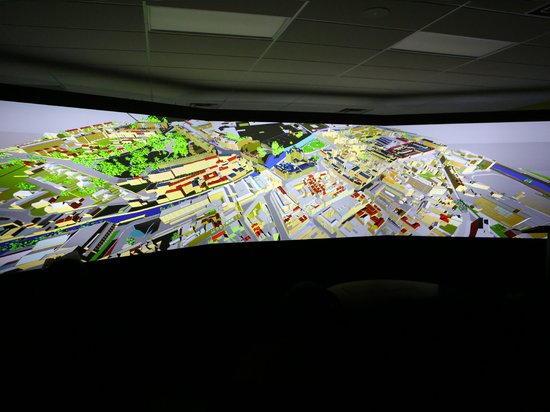 The Christie Visualization system at George Brown College BIM Lab. Photo: George Brown College