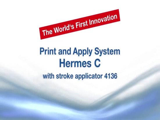 Print and apply system Hermes C with stroke applicator