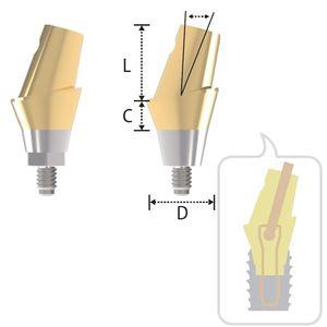 アナトミカルインプラントアバットメント / 円錐 / アングル / チタン