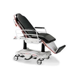 油圧空気圧ストレッチャー機能付き車椅子 / 高さ調整可能 / 2段階 / ローラー付き