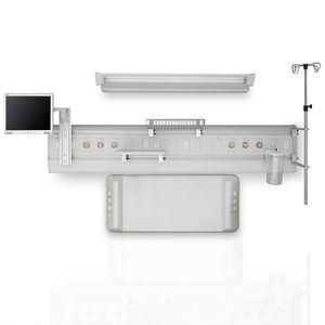 横型べッドのヘッドユニット / 壁取り付け式 / モジュール式 / ライト付き