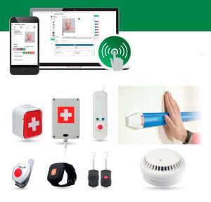 ベッド用ナースコール システム / 電話 / ブレスレット / 自動落下検知付き