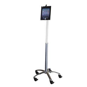 キャスター付きタブレットPCサポートアーム / 医療用 / 高さ調節可能 / ロック可能