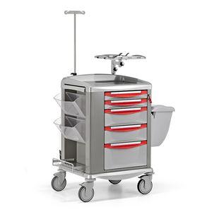 救急トロリー / 移送用 / 酸素ボンベ用 / 除細動器用