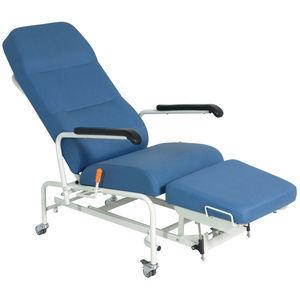 キャスター付き休息用アームチェア / 足掛け付 / 傾斜 / 調節可能背もたれ