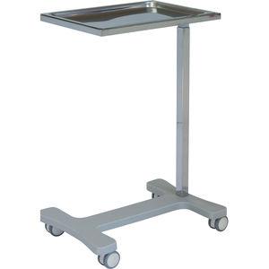 キャスター付きメイヨーテーブル / 高さ調整可能 / ステンレススチール製