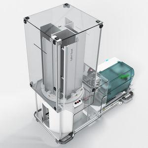 研究室用チューブラベル貼付機