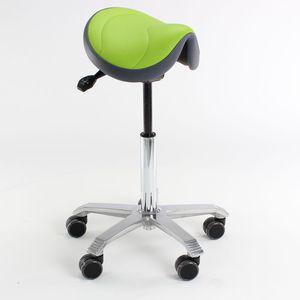 医務室用スツール / 高さ調整可能 / サドルシート型 / キャスター付き