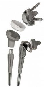 モジュール式人工肩 / 再置換術用 / セメント固定かセメントレス固定