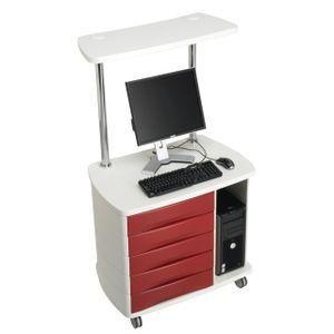 引き出し付きコンピュータ用台車