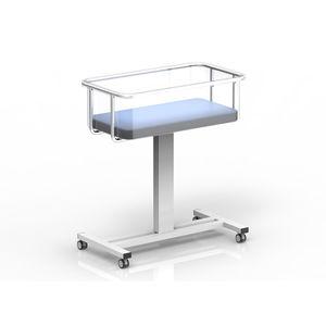固定高度式病院用バシネット / キャスター付き / 透明