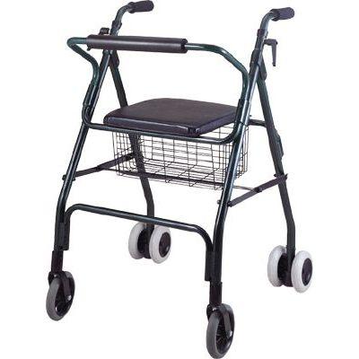 4つ歩行器 / 椅子付き / かご付き / 高さ調整可能
