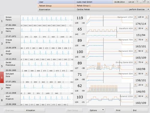 運動療法ソフト / モニター用 / 制御 / 心臓