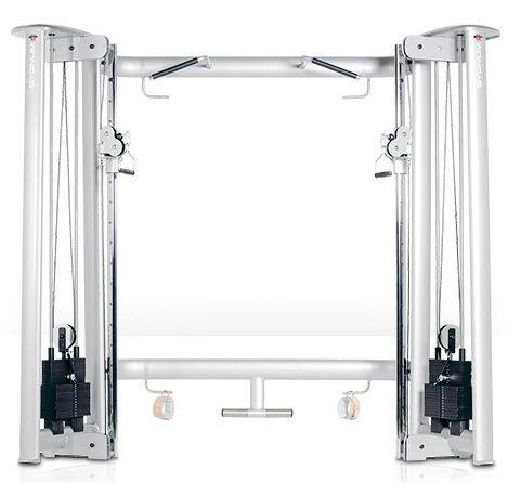 クロスオーバーエクササイズ用プーリー / 高い / 低い / トラクションバー付き