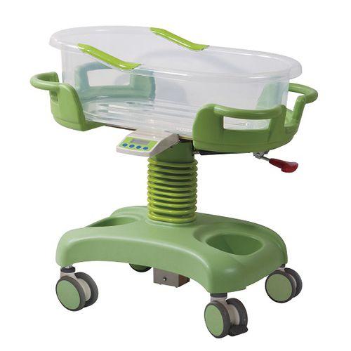 高さ調節可能病院用バシネット / キャスター付き / 透明