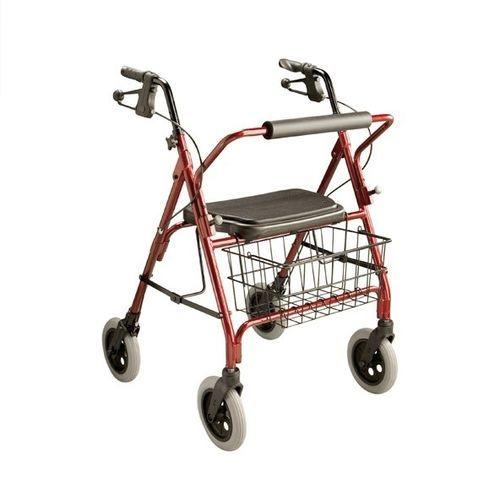 4つ歩行器 / 椅子付き / かご付き / 肥満体型向け
