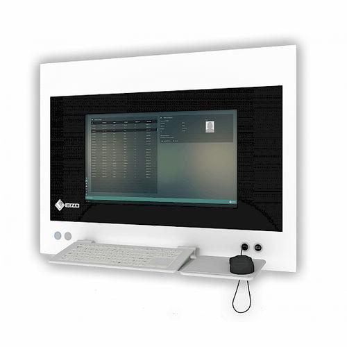 手術コンピューターワークステーション / 防水 / ビデオレコーダー式 / 壁掛け式