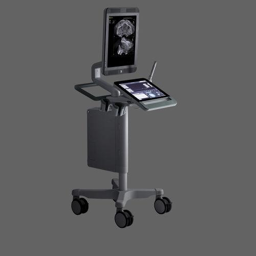 プラットフォーム上・コンパクト超音波装置 / 泌尿器科超音波用 / 白黒 / タッチパネル式