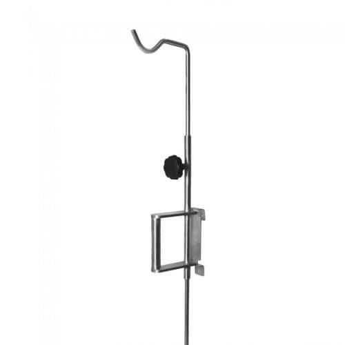 壁取り付け式IV スタンド / 1フック / 伸縮自在 / 動物ケージ用
