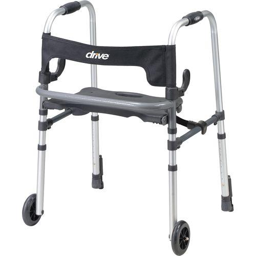 高さ調整可能歩行器 / 折り畳み式 / 椅子付き / 2輪