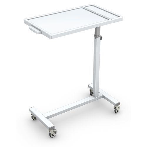 キャスター付きオーバーベッドテーブル