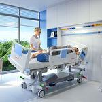 集中治療用ベッド / 電動 / 高さ調節可能 / 側面角度調節可能