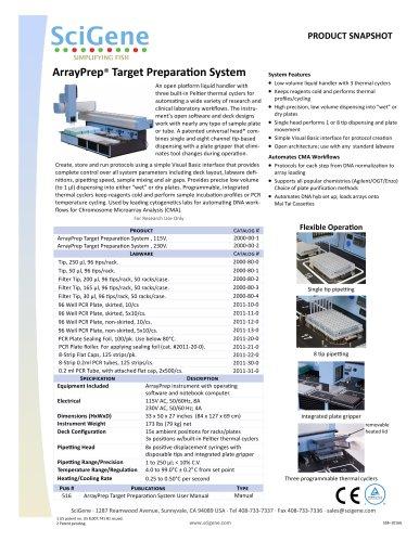 ArrayPrep® Target PreparaƟon System