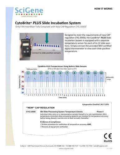 CytoBrite® PLUS Slide IncubaƟon System