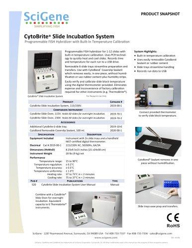 CytoBrite® Slide IncubaƟon System