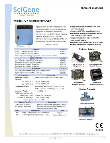 Model 777 Microarray Oven
