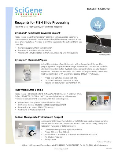 Reagents for FISH Slide Processing