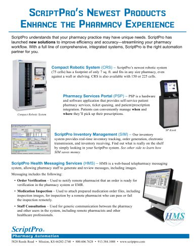 ScriptPro's Newst Products Enhance the Pharmac Experience