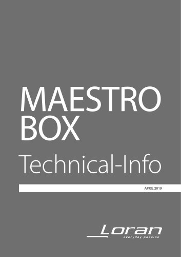 MAESTRO BOX Technical-Info