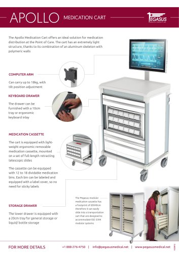 Apollo - Computer Trolley For Medication Distribution