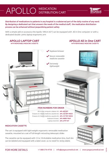 Apollo medication distribution cart