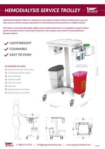 HEMODIALYSIS SERVICE TROLLEY