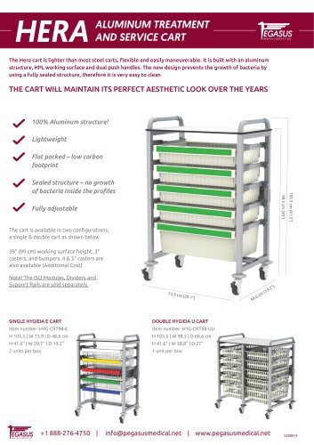 HERA ALUMINUM TREATMENT AND SERVICE CART