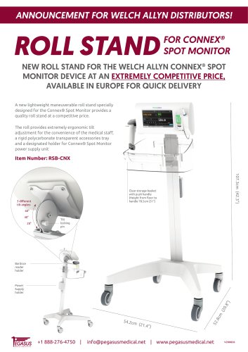 ROLL STANDFOR CONNEX® SPOT MONITOR