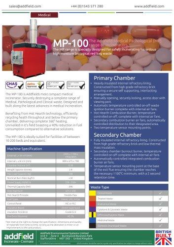 Addfield MP100 Medical Waste Incinerator Datasheet