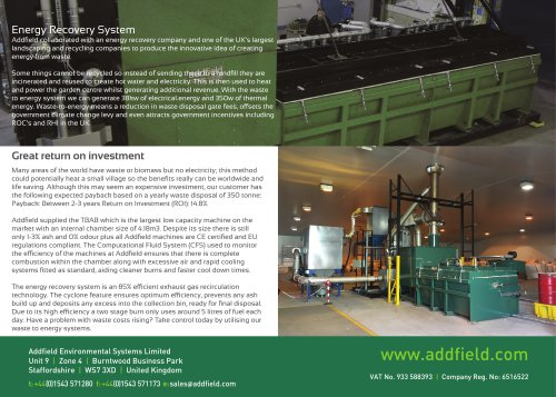 Energy Recovery System Case Study