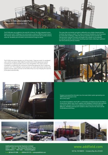Rotary Kiln Incineration Plant