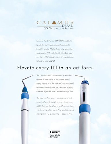 Calamus Dual 3D Obturation Systems Fact Sheet