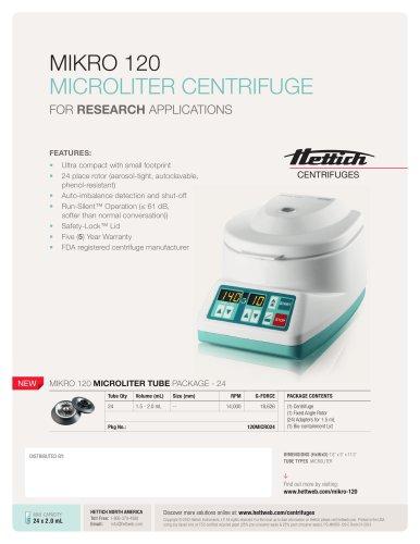 MIKRO 120 MICROCENTRIFUGE