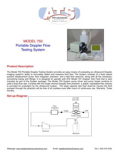 Model 750 Portable Doppler Flow Testing System