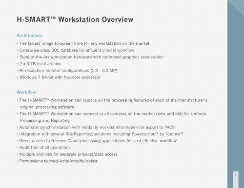 H-SMART? Workstation Overview