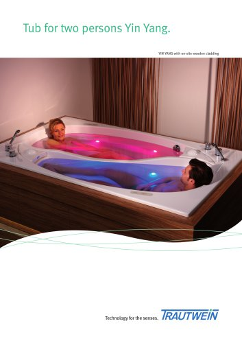 Tub for two persons Yin Yang.