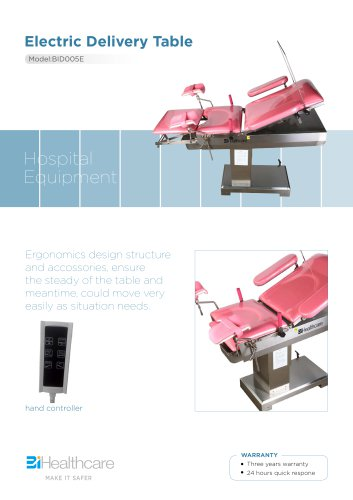 Brochure_Electric delivery table(BID005E)_BiHealthcare