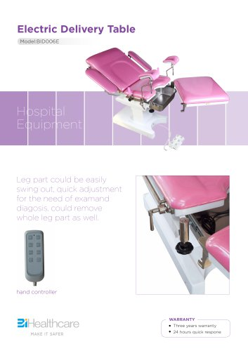 Brochure_Electric delivery table(BID006E)_BiHealthcare