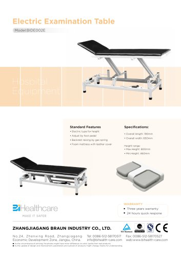Brochure_Electric Examiantion bed(BIDE002E)_BiHealthcare